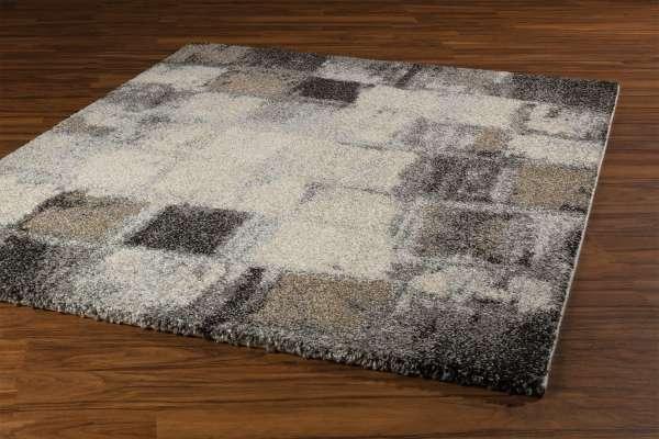 Teppich ELEGANTE karo 23, Beige-Grau, 120x170 cm
