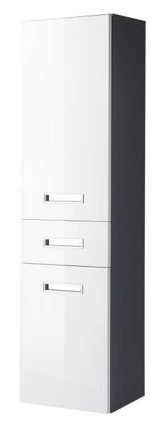 Hochschrank Bad MANI, grau, Weiß Hochglanz (BxHxT) 38x150x31 cm