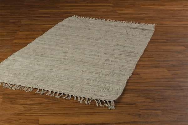 Teppich FRANKEN, Baumwolle, Sand, BxL 140x200 cm