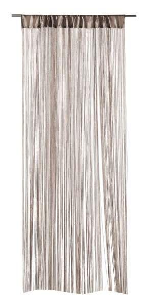 Vorhang Fädenvorhang, Schlamm Polyester, B 110 x L 250 cm