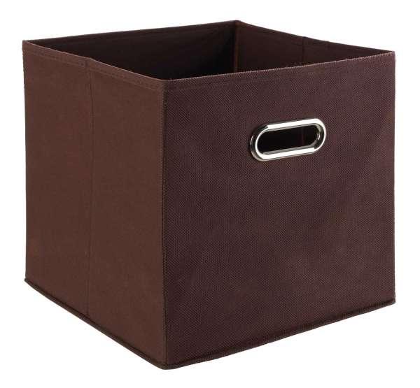 Aufbewahrungsbox NINO 3, Vlies Braun, (BxHxT) 27x28x27 cm