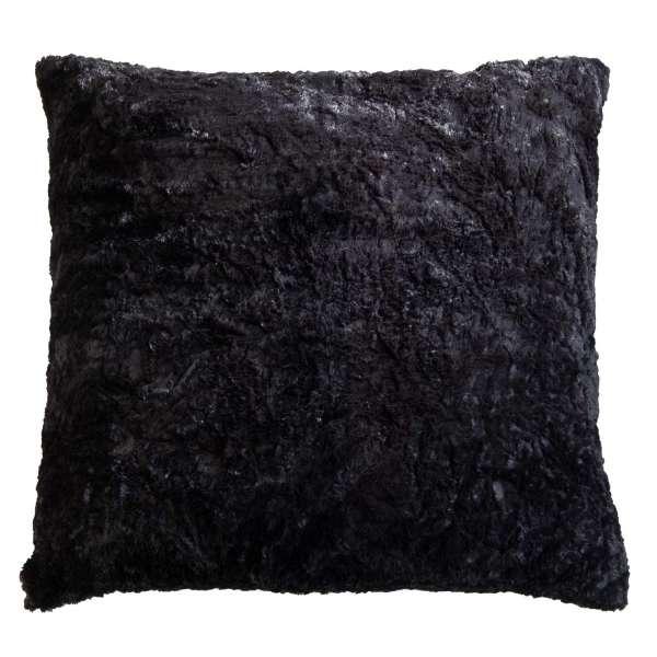 Kissen KUSCHEL 23, B 66 x H 66 cm, Anthrazit, Felloptik