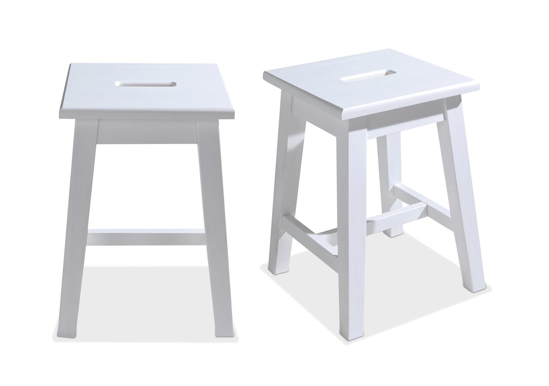 Hocker OLEK 1, Weiß lackiert