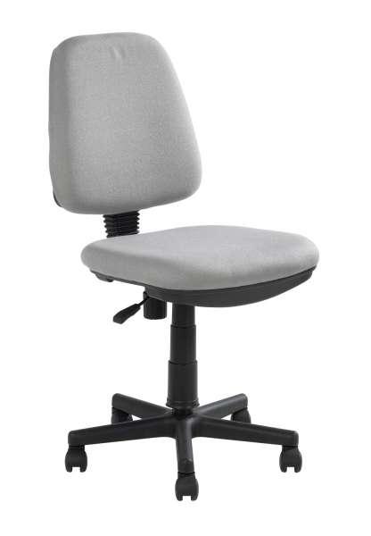 Drehstuhl, Schreibtischstuhl Webstoff, grau, höhenverstellbar