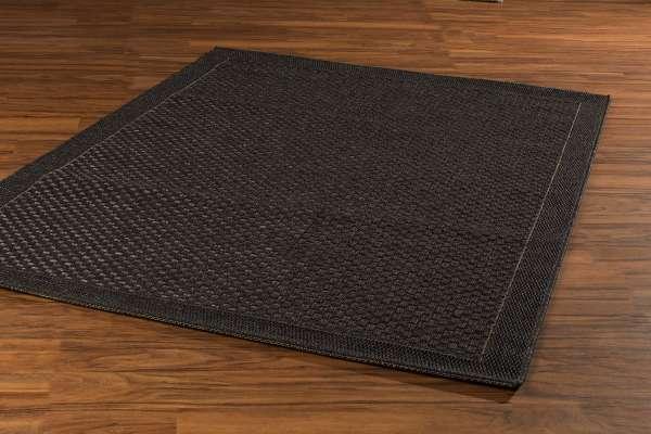 In- und Outdoorteppich GRACE schwarz, Schwarz, 80x150 cm