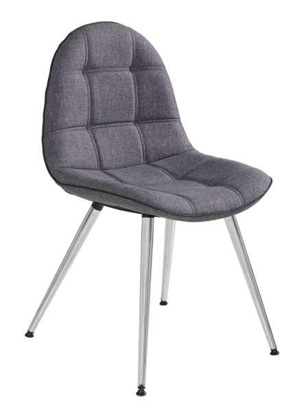 Stuhl OSANE bequem aus Stoff in Grau | Möbel Jack