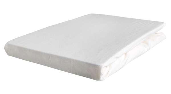 Bettlaken Spannbetttuch BERTINA 5, 140x200 cm, Perlmutt Baumwolle, Rundumgummi