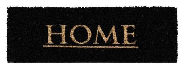 Fußmatte HOME 1, Schwarz, 26x75 cm