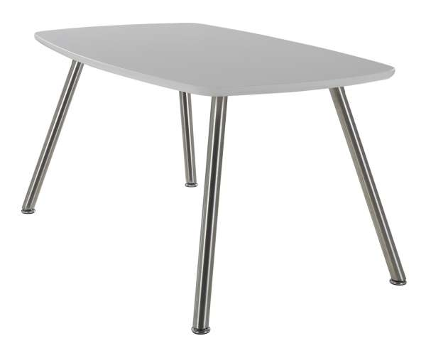 Esstisch, Küchentisch ABEY, weiß hochglanz, lackiert, 150x90 cm