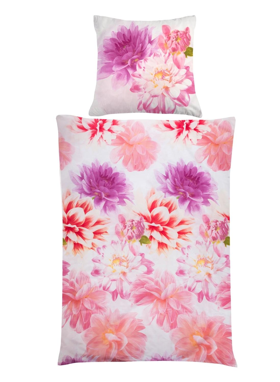 baumwoll bettw sche in wei pink mit rei verschluss jady m bel jack. Black Bedroom Furniture Sets. Home Design Ideas