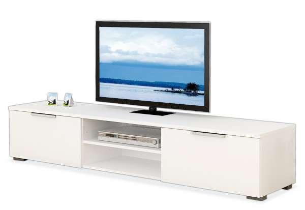 Tv-Lowboard Fernsehtisch Fernsehschrank MICO, Weiß Hochglanz