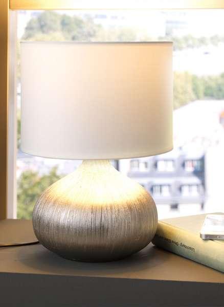 Tischleuchte CERA, Keramik, ohne Leuchtmittel, 18x30x18 cm