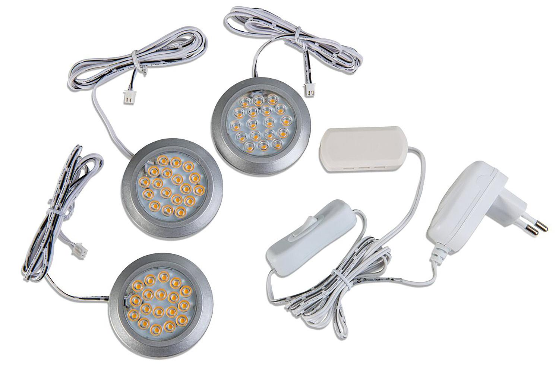 LED Unterbauleuchte CABINET - 3er Set