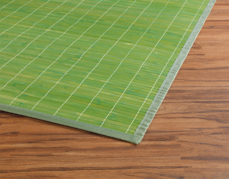 Bambusteppich LIGO grün, Grün, 80x150 cm
