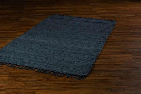 Teppich FRANKEN, B 60 x L 110 cm, Dunkelgrau, Baumwolle