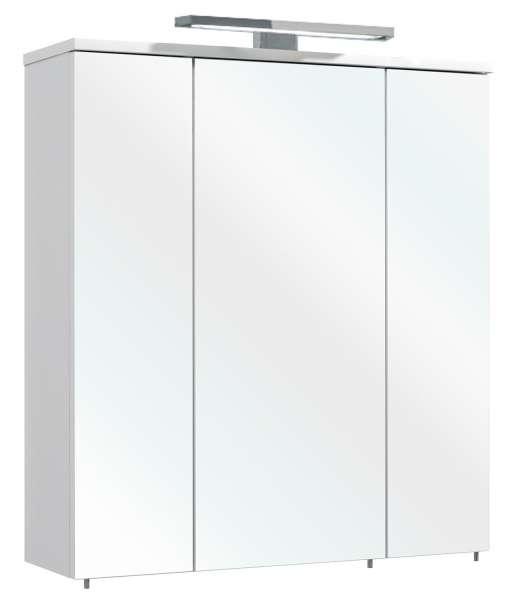 Spiegelschrank 3-türig, weiß inkl. Beleuchtung