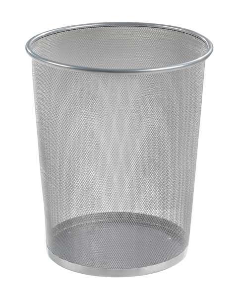 Papierkorb Mülleimer Metallgeflecht Silber, Höhe 35,5, 10 Liter
