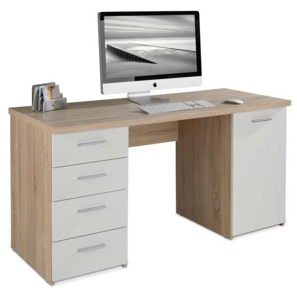 Schreibtisch Weiß Dekor
