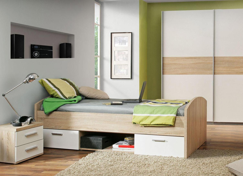 Jugendbett WARWICK, matt Weiß, 90x200 cm