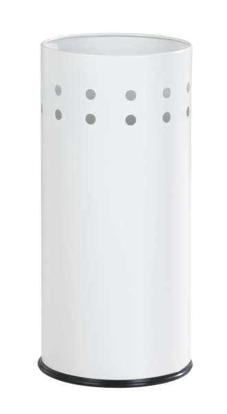 Schirmständer RAJA 1, H 50 cm, Edelstahl Weiß, mit Auffangschale