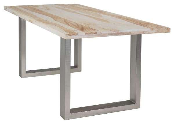 Esstisch, Küchentisch PUNE 7, Shisham teilmassiv, Metallgestell | (BxHxT) 180x78x90 cm