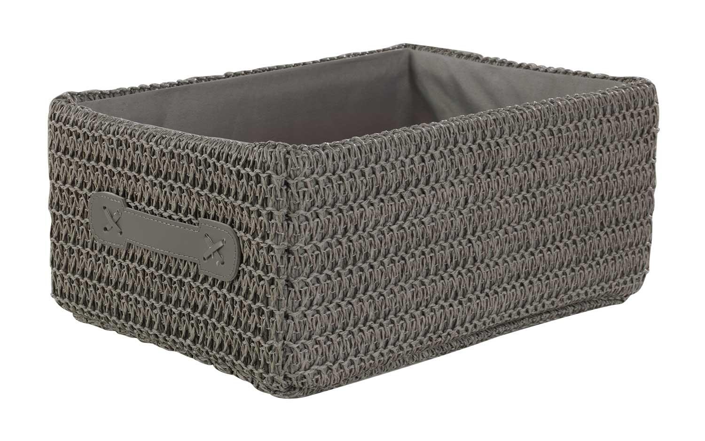 aufbewahrungsbox aus kunststoff stoff in grau kaniel m bel jack. Black Bedroom Furniture Sets. Home Design Ideas