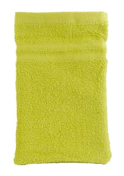 Waschhandschuh B 15 x L 21 cm, Grün Baumwolle