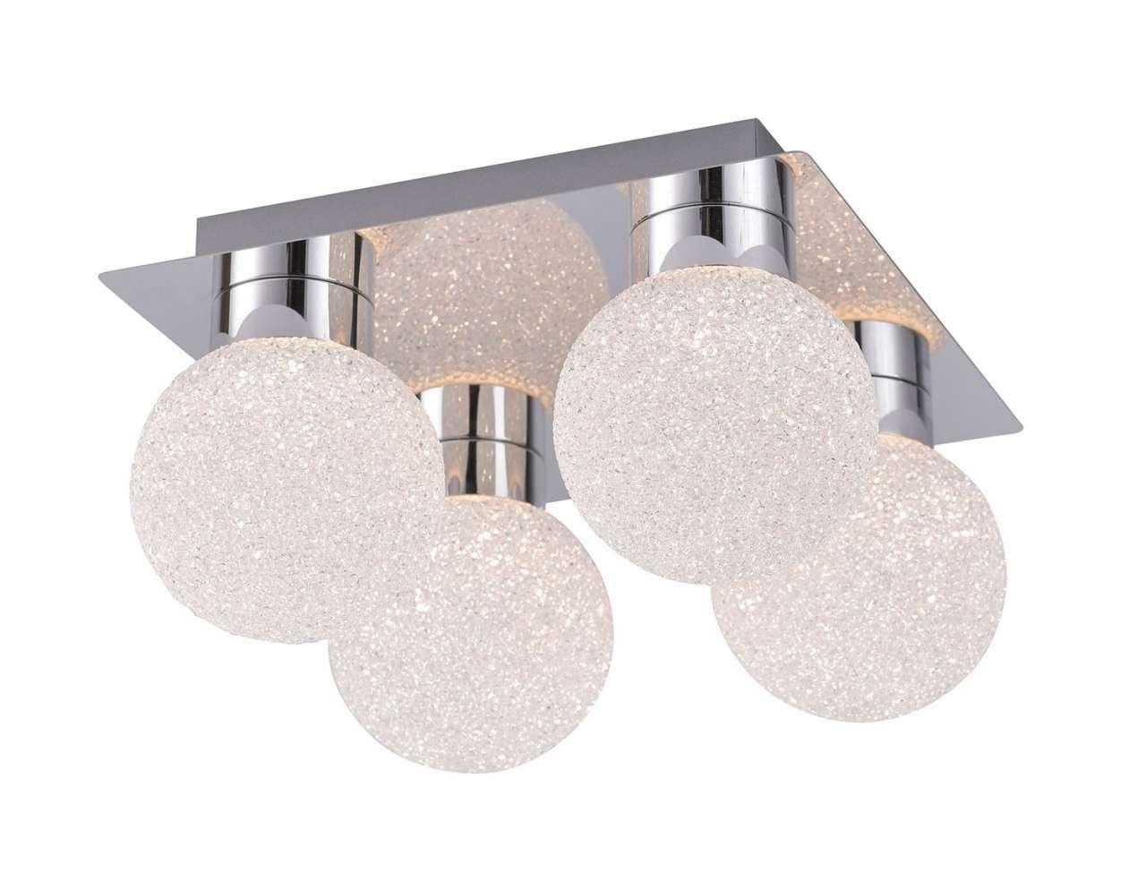 moebel-jack.de LED-Lampe Deckenleuchte MIKO 1, Metall Chromfarben, mit Fernbedienung