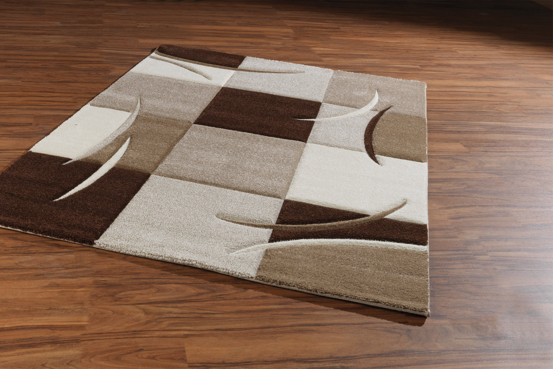 Teppich braun beige  Teppich DIAMOND braun/ beige/ taupe/creme 4, Maschinenwebteppich ...
