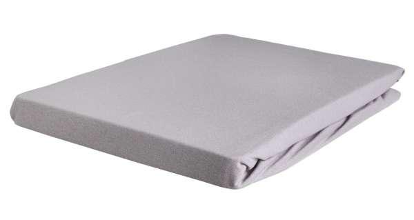 Bettlaken Spannbetttuch BERTINA, 90x200 cm, Platin Baumwolle, Rundumgummi