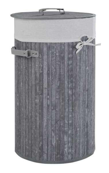 Wäschesammler Wäschebox Wäschetonne, Grau mit Stoff