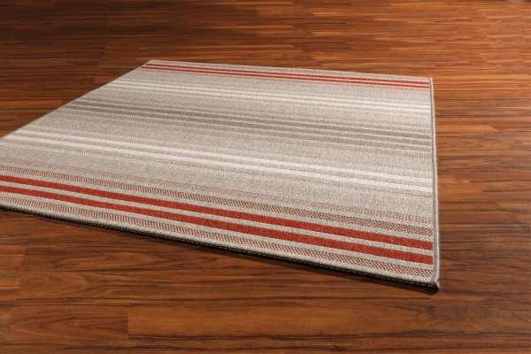 Teppich STAR, Creme-Braun-Rot, 120x170 cm