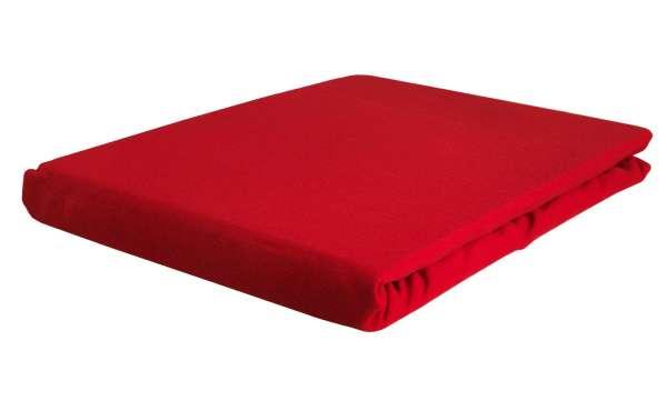 Bettlaken Spannbetttuch BERTINA 4, 90x200 cm, Rot Baumwolle, Rundumgummi