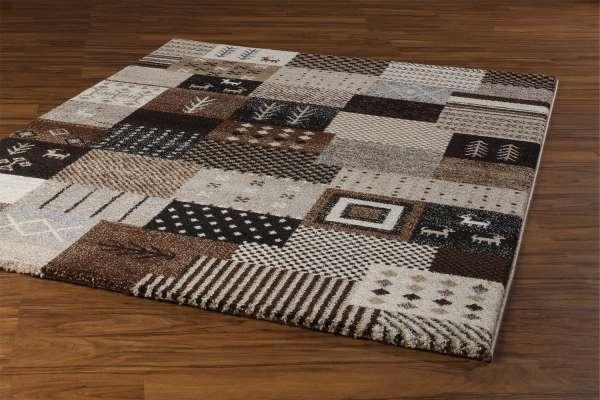 Teppich ETHNO 2, Braun-Beige, 120x170 cm