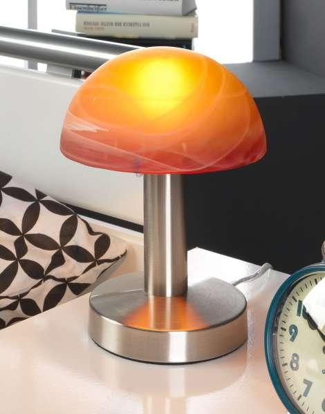 Tischleuchte CHRISTEL 4, Rot-Orange, 21 cm