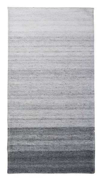 Teppich VENLO 33, Grau, Viscose,Filz, handgewebt (BxL) 65x135 cm