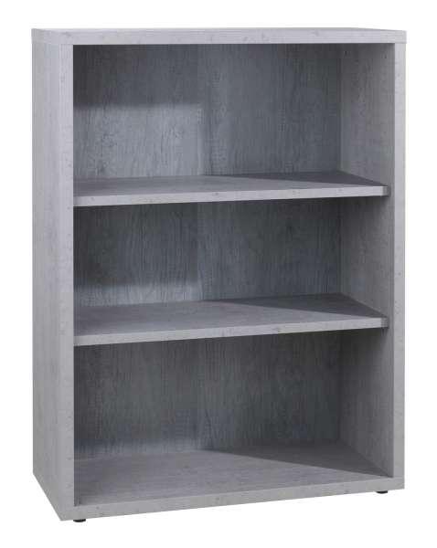 Regal, Bücherregal DELA 12, grau, 2 Regalböden, BxHxT: ca. 82x112x36 cm