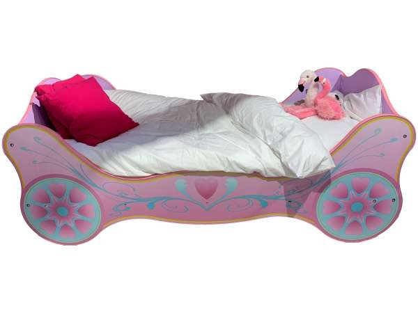 Kinderbett Pink - 90 x 200 cm - Prinzessin-Design