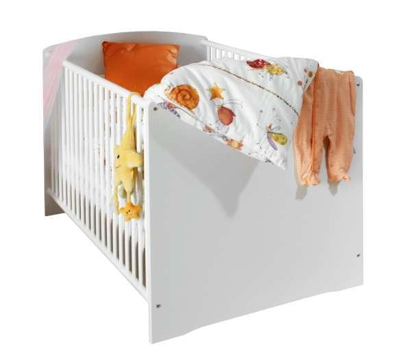 Babybettgestell MAJA, Alpinweiß Dekor