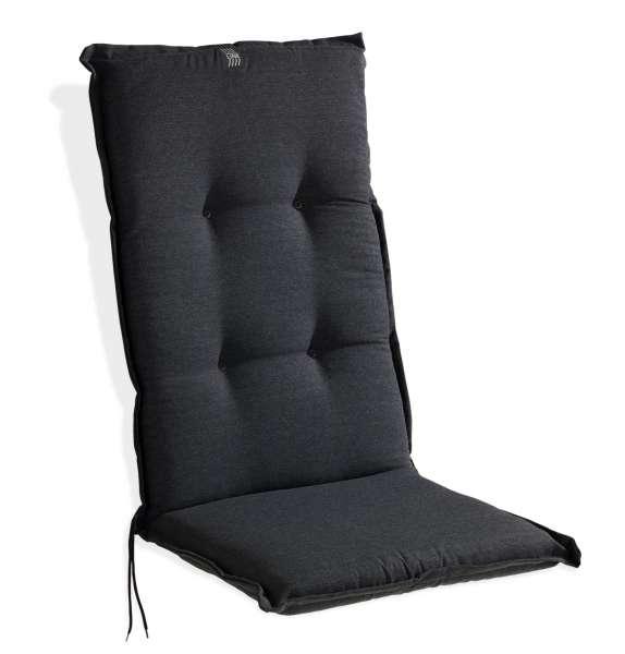 Gartenstuhlauflage Sesselauflage Sitzpolster ANTHRA 1, Anthrazit Uni