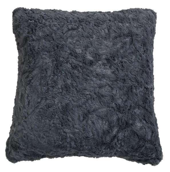 Kissen Sofakissen Dekokissen KUSCHEL 12, Grau 45x45 cm, Felloptik